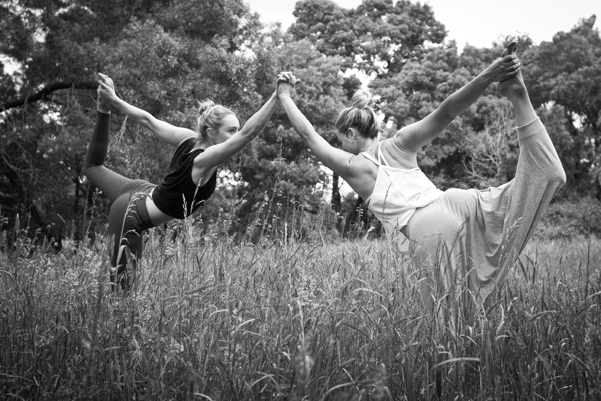 Practicing Yoga in a Field near Berwick