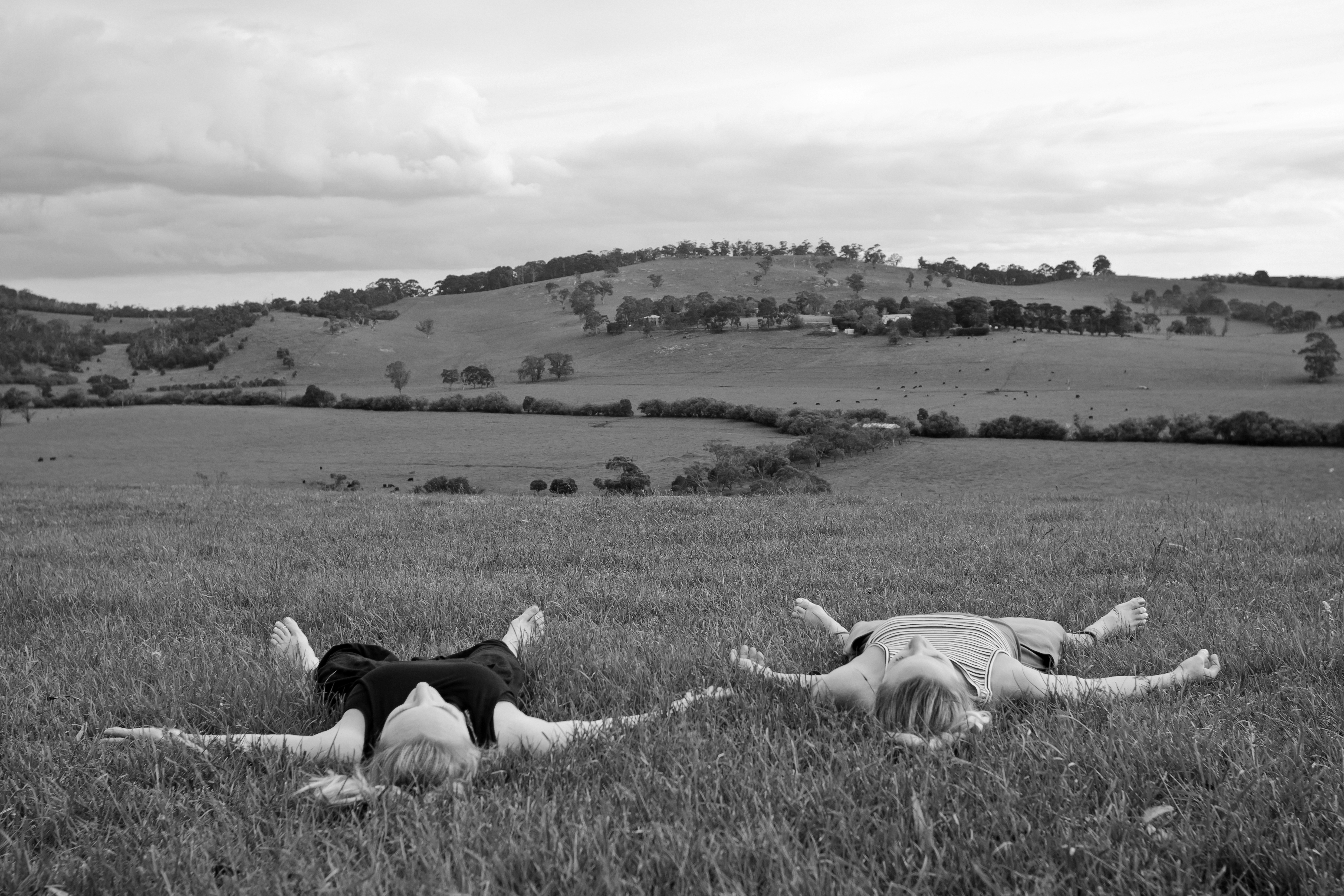 Yoga in a field near Lysterfield